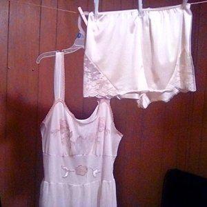 1940s; Slip; night gown; Vintage